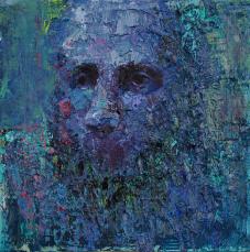 2016_1, oil on canvas, 30cmx30cm, City people#2