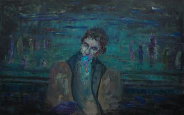 2016_2, oil on canvas, 160cmx120cm, Passenger#12