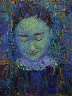 2016_4, oil on canvas, 30cmx40cm, City people#13